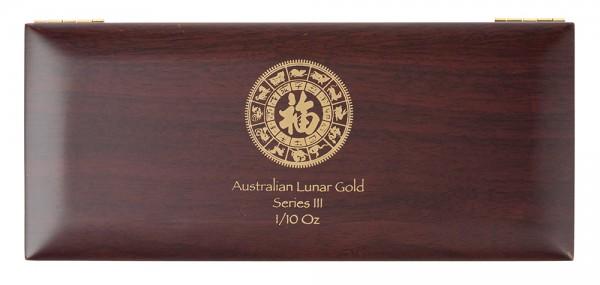 Münzbox für Lunar III Serie 12 x 1/10 Unze (oz) Goldmünzen