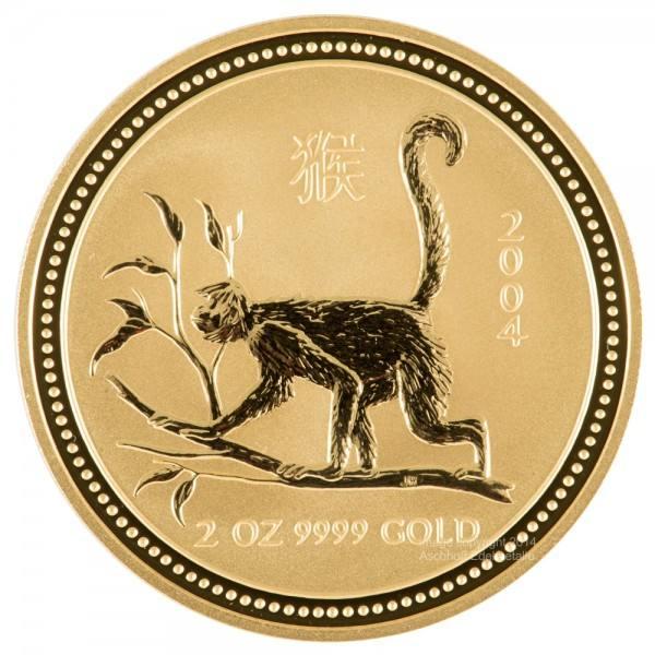 Lunar I 2004 Affe, Goldmünze 2 Unzen (oz)