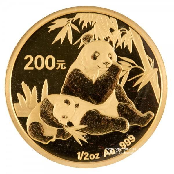 Ankauf: China Panda 2007, Goldmünze 1/2 Unze (oz)