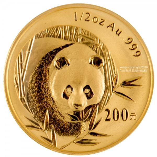 Ankauf: China Panda 2003, Goldmünze 1/2 Unze (oz)