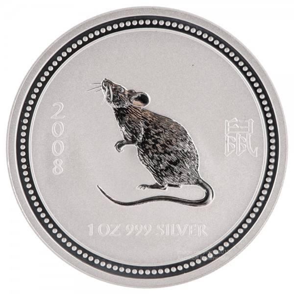 Ankauf: Lunar I 2008 Maus, Silbermünze 1 Unze (oz)