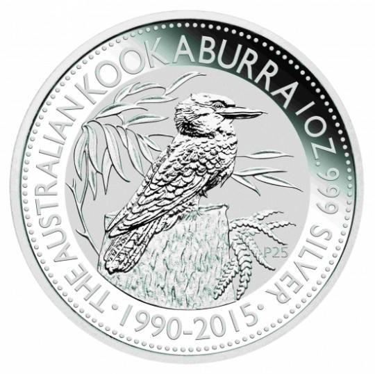 Ankauf: Australian Kookaburra 2015, Silbermünze 1 Unze (oz)