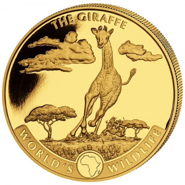 Ankauf: Worlds Wildlife Kongo 2019 The Giraffe, Goldmünze 1 Unze (oz)