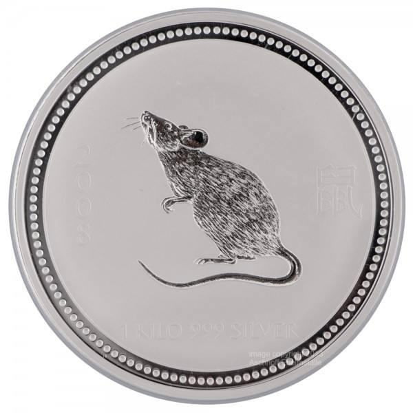Ankauf: Lunar I 2008 Maus, Silbermünze 1 kg