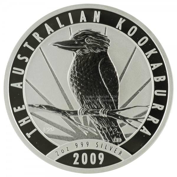 Australian Kookaburra 2009, Silbermünze 2 Unzen (oz)