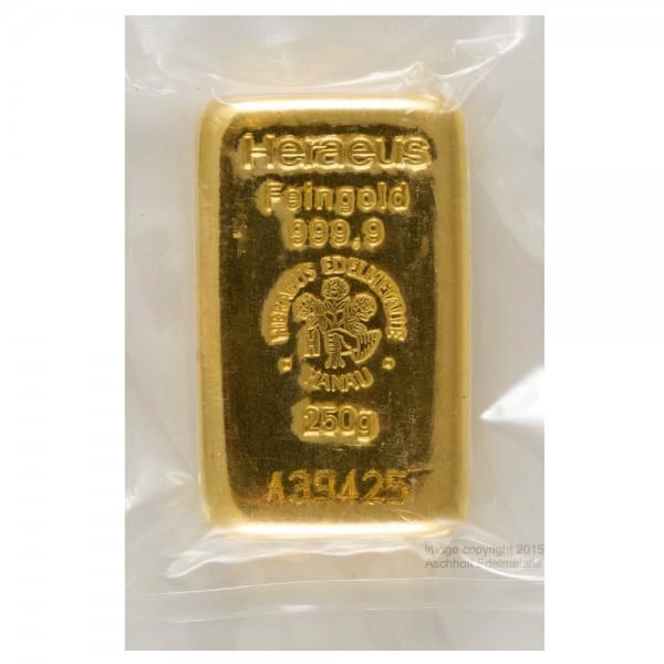 Ankauf: Goldbarren 250g Heraeus