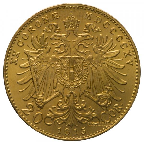 Ankauf: Österreich 20 Kronen, Goldmünze 6,1g fein, diverse Jahrgänge