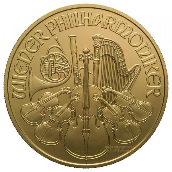 Wiener Philharmoniker 2018, Goldmünze 1 Unze (oz)