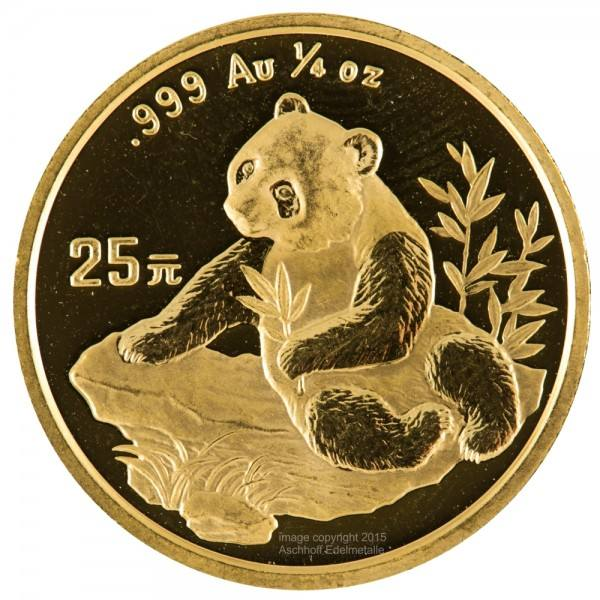 Ankauf: China Panda 1998, Goldmünze 1/4 Unze (oz)