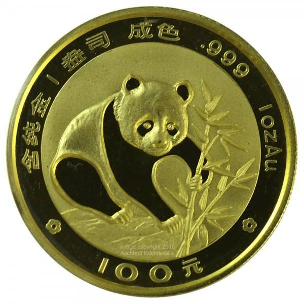 Ankauf: China Panda 1988, Goldmünze 1 Unze (oz)