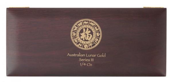 Münzbox für Lunar III Serie 12 x 1/4 Unze (oz) Goldmünzen