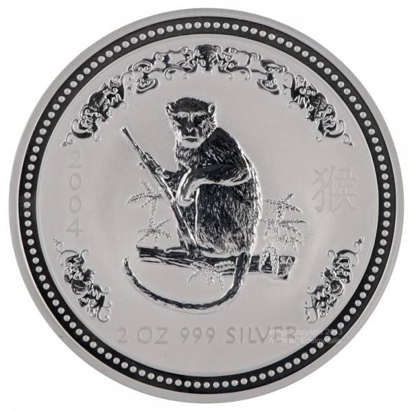 Ankauf: Lunar I 2004 Affe, Silbermünze 2 Unzen (oz)