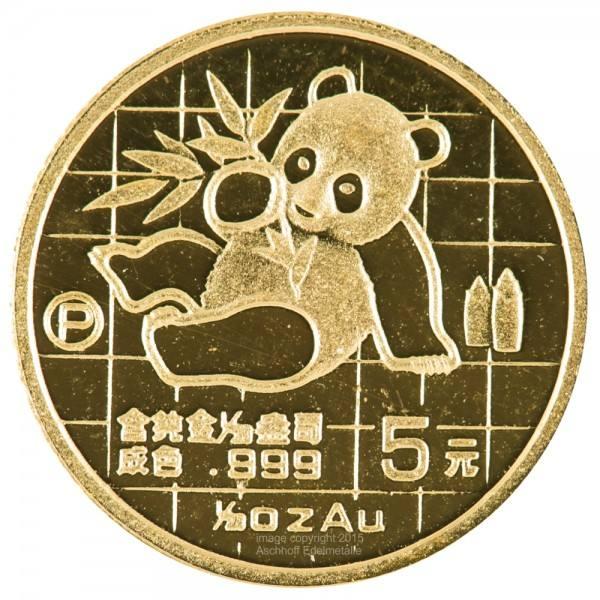 Ankauf: China Panda 1989, Goldmünze 1/20 Unze (oz)