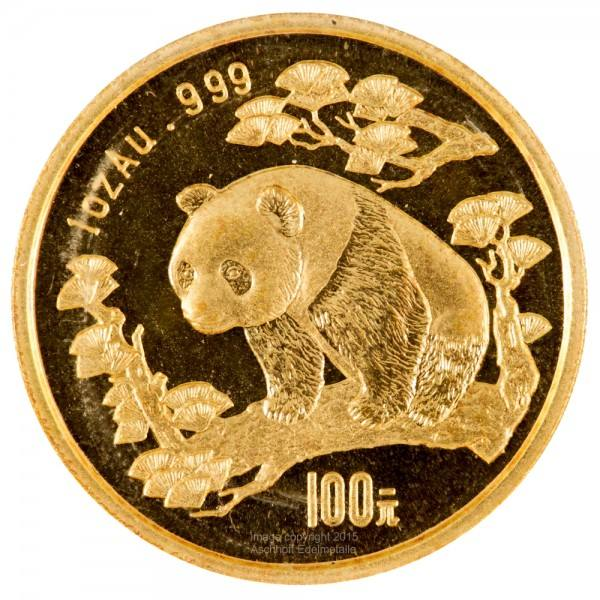 Ankauf: China Panda 1997, Goldmünze 1 Unze (oz)