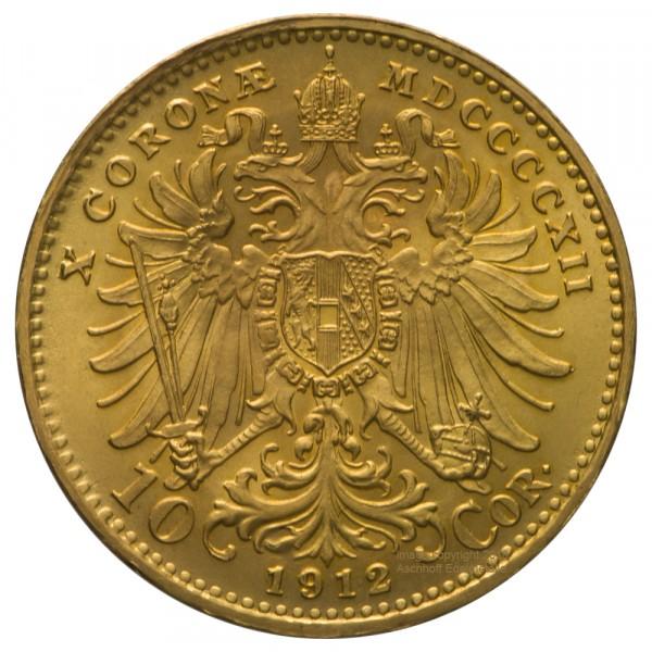 Ankauf: Österreich 10 Kronen, Goldmünze 3,05g fein, diverse Jahrgänge