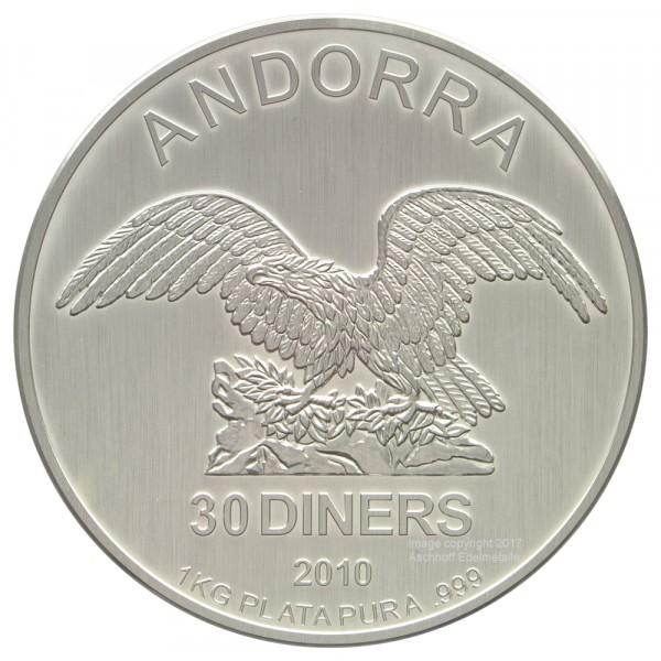 Andorra Eagle 2010, Silbermünze 1 Kilo (kg)