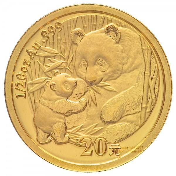 Ankauf: China Panda 2005, Goldmünze 1/20 Unze (oz)