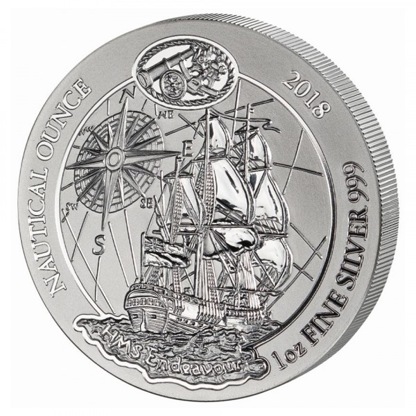 Ankauf: Ruanda Nautical Ounce 2018 Endeavour, Silbermünze 1 Unze (oz)