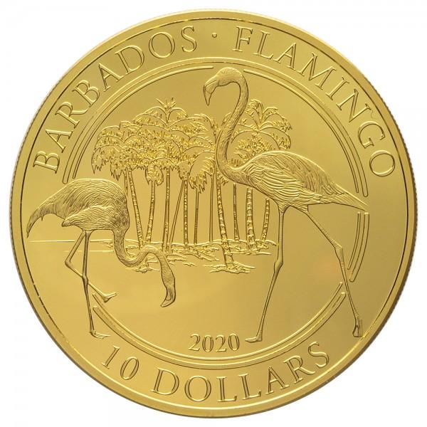 Barbados 2020 Flamingo, Goldmünze 1 Unze ( oz )