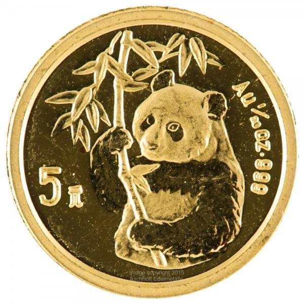 Ankauf: China Panda 1995, Goldmünze 1/20 Unze (oz)