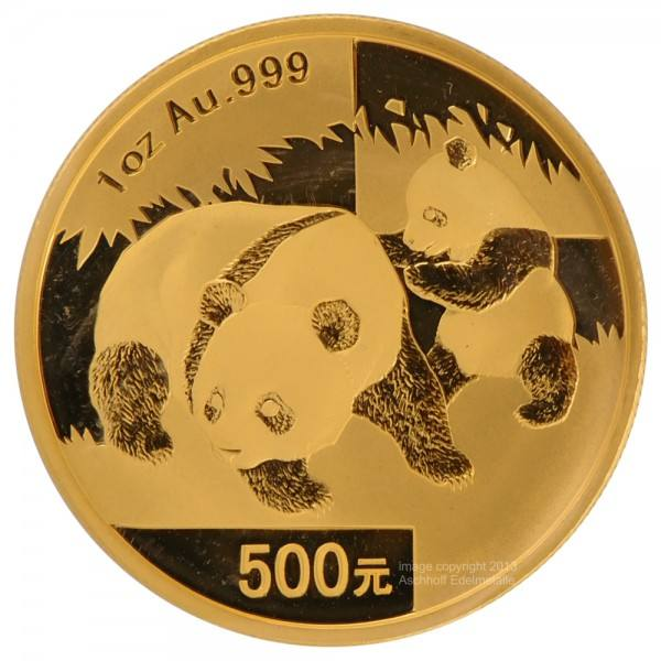 Ankauf: China Panda 2008, Goldmünze 1 Unze (oz)