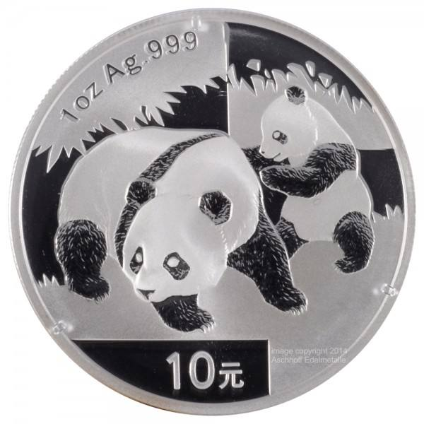 Ankauf: China Panda 2008, Silbermünze 1 Unze (oz)