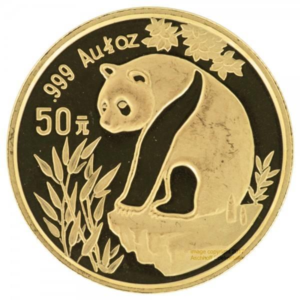 China Panda 1993, Goldmünze 1/2 Unze (oz) in Kapsel 2. Wahl