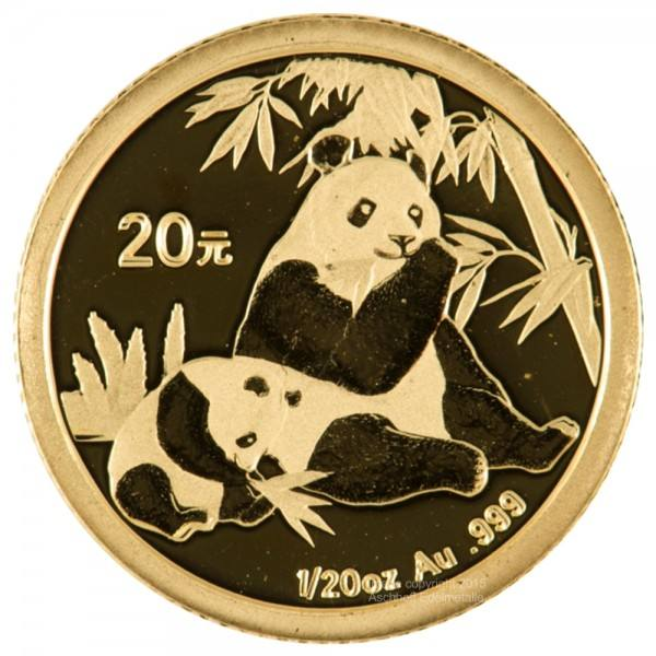 Ankauf: China Panda 2007, Goldmünze 1/20 Unze (oz)