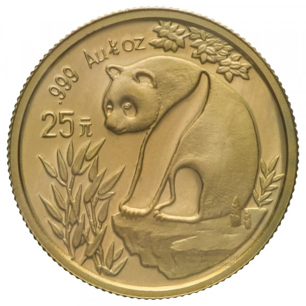 Ankauf: China Panda 1993, Goldmünze 1/4 Unze (oz)