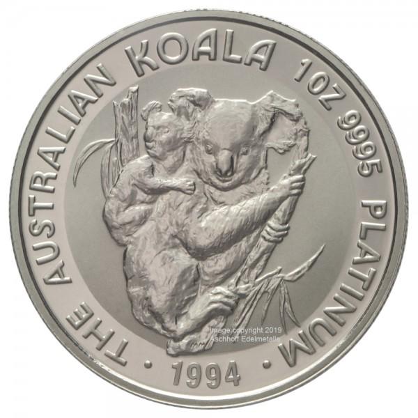 Australian Koala 1994, Platinmünze 1 Unze (oz)