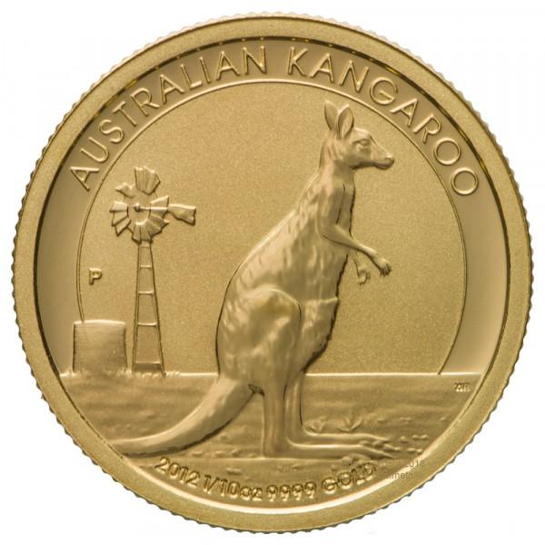 Ankauf: Australian Kangaroo (Nugget), Goldmünze 1/10 Unze, diverse Jahrgänge
