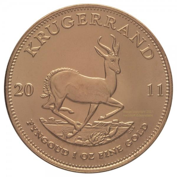 Krügerrand Jahr 2011, Goldmünze 1 Unze (oz)
