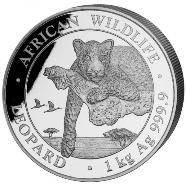 Somalia African Wildlife Leopard 2020, Silbermünze 1 Kilo (kg)