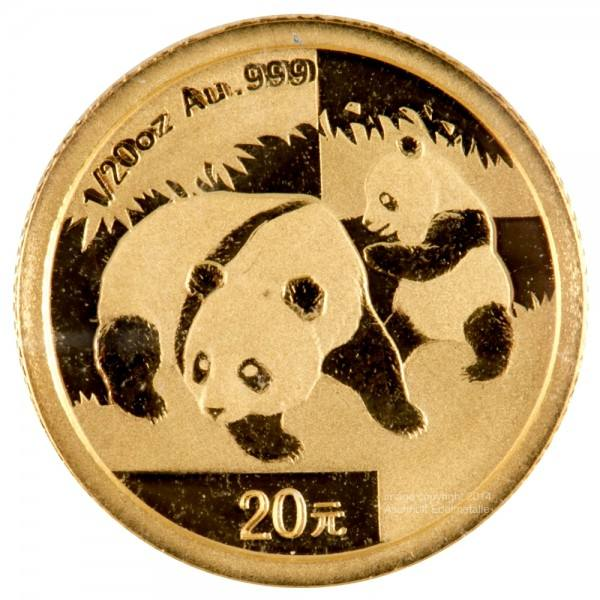 Ankauf: China Panda 2008, Goldmünze 1/20 Unze (oz)