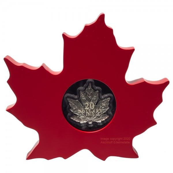 Cut-out Maple Leaf 2015, Silbermünze 1 Unze (oz), PP