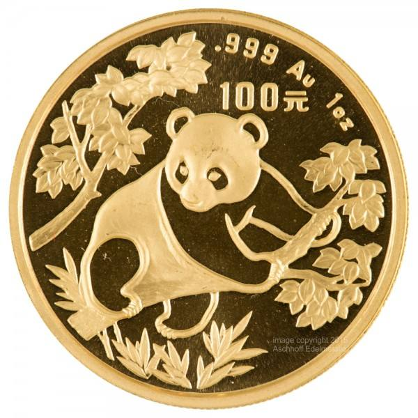 Ankauf: China Panda 1992, Goldmünze 1 Unze (oz)