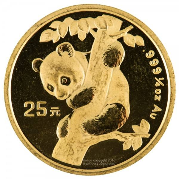 Ankauf: China Panda 1996, Goldmünze 1/4 Unze (oz)