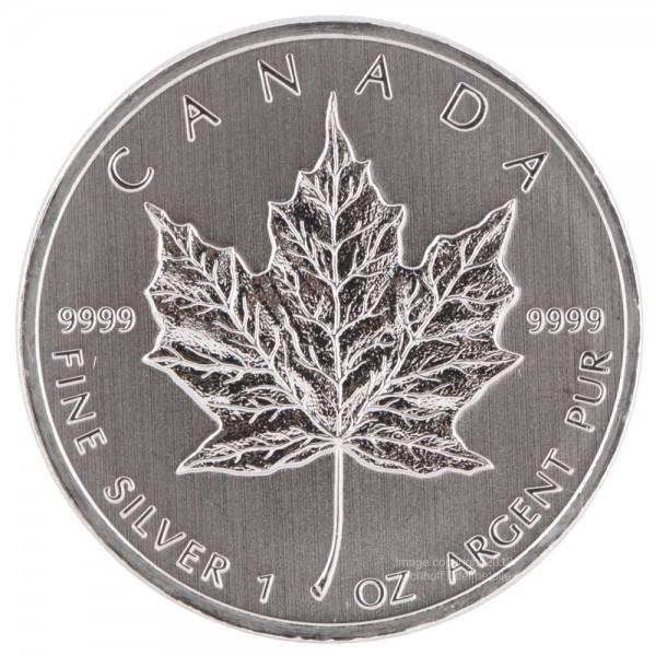 Ankauf: Maple Leaf, Silbermünze 1 Unze (oz), diverse Jahrgänge