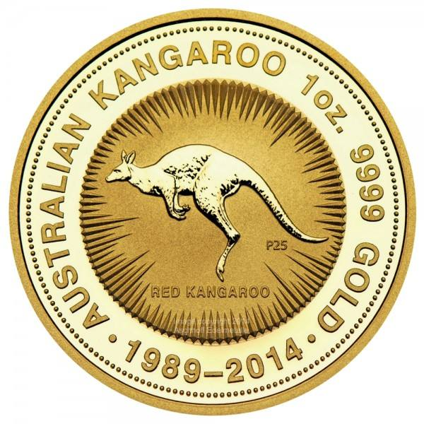 Ankauf: Australian Kangaroo 1989 - 2014, Goldmünze 1 Unze (oz)