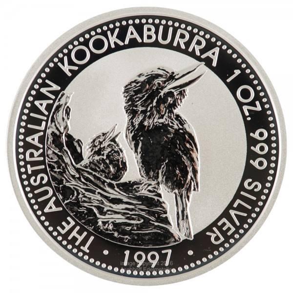 Australian Kookaburra 1997, Silbermünze 1 Unze (oz)